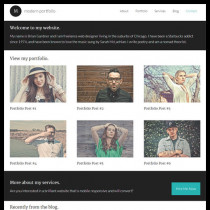 Modern Portfolio by StudioPress