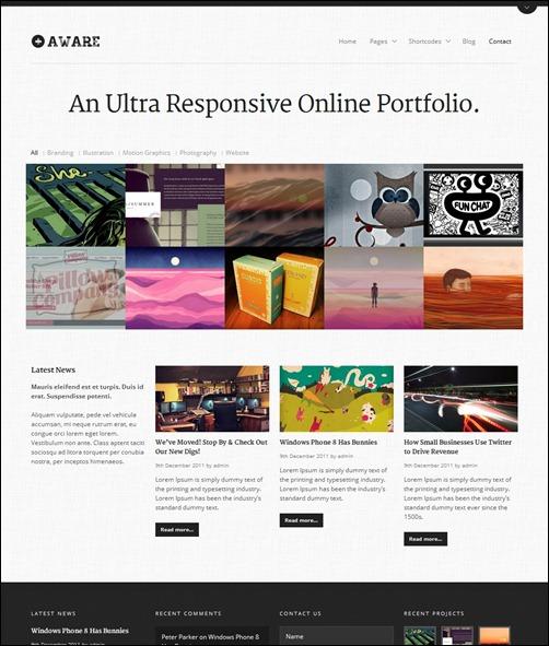 video portfolio website