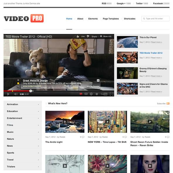Best Video WordPress Themes 2018 - Best Premium WordPress