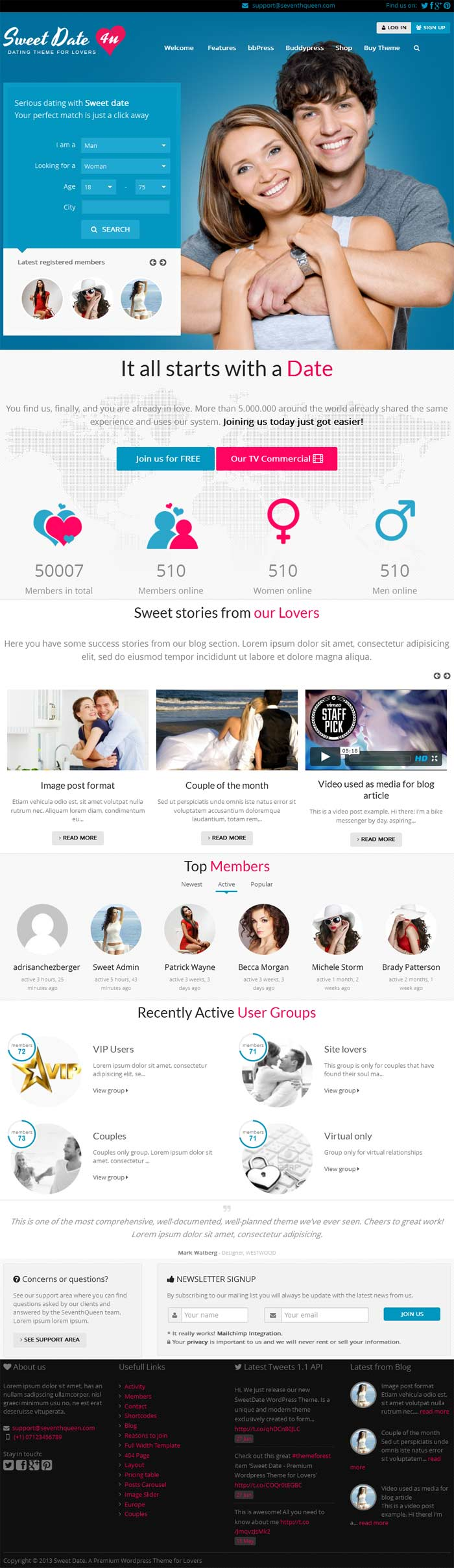 27 Dating Website Themes & Templates