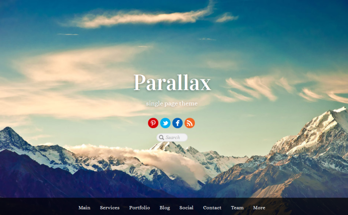 Parallax-Homepage