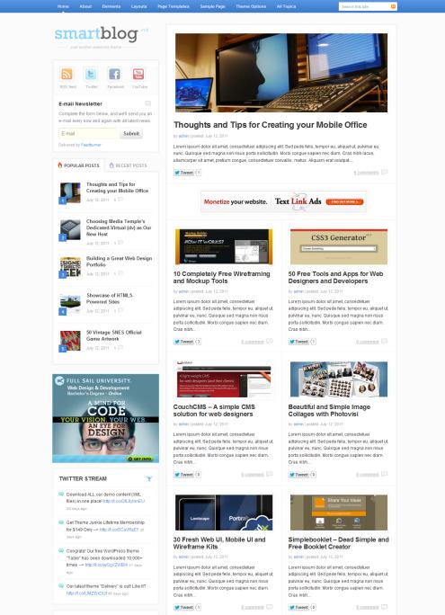 SmartBlog-Homepage