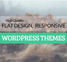 Best Flat Responsive Design WordPress Themes 2021